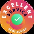 """Her şirketin müşteri destek hizmetlerini isimsiz bir şekilde incelemek için zaman ayırıyoruz. """"Mükemmellik nişanı"""" HostAdvice'ın yüksek müşteri destek hizmeti standartlarına uyan hosting şirketlerine verilen bir ödüldür ve verilen hizmetin hızlı, etkili, bilgi dolu ve en önemlisi yararlı olduğunu kanıtlayan bir göstergedir."""